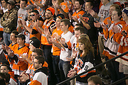 The Corner Crew cheers during a game at the Gene Polisseni Center on Saturday, October 4, 2014.