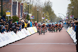 Kirsten Wild (NED) wins the sprint finish at Healthy Ageing Tour 2019 - Stage 5, a 124.3 km road race in Midwolda, Netherlands on April 14, 2019. Photo by Sean Robinson/velofocus.com