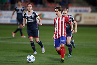 Atletico de Madrid´s Sonia and Olympique Lyonnais´s Le Sommer during UEFA Women´s Champions League soccer match between Atletico de Madrid and Olympique Lyonnais, in Madrid, Spain. November 11, 2015. (ALTERPHOTOS/Victor Blanco)