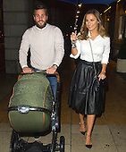 EXCLUSIVE Sam and Paul arriving at the Ritz with baby paul