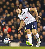 Benjamin Stambouli of Tottenham Hotspur during the Capital One Cup Semi-Final 1st Leg match between Tottenham Hotspur and Sheffield Utd at White Hart Lane, London, England on 21 January 2015. Photo by David Horn.