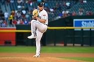 PHOENIX, AZ - APRIL 26:  Shelby Miller #26 of the Arizona Diamondbacks delivers a pitch in the first inning against the St. Louis Cardinals at Chase Field on April 26, 2016 in Phoenix, Arizona. The St Louis Cardinals won 8-2.  (Photo by Jennifer Stewart/Getty Images)