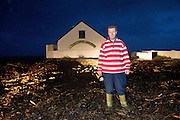 06/01/2014.  Graham Roberts from the Connemara smokehouse which was destroyed by waves at the weekend Photo:Andrew Downes.