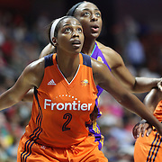 UNCASVILLE, CONNECTICUT- JULY 15:  Camille Little #2 of the Connecticut Sun defends the basket during the Los Angeles Sparks Vs Connecticut Sun, WNBA regular season game at Mohegan Sun Arena on July 15, 2016 in Uncasville, Connecticut. (Photo by Tim Clayton/Corbis via Getty Images)
