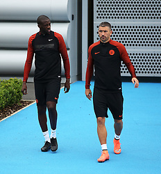 Yaya Toure of Manchester City walks out to train with Aleksander Kolarov - Mandatory by-line: Matt McNulty/JMP - 12/09/2016 - FOOTBALL - Manchester City - Training session ahead of Champions League Group C match against Borussia Monchengladbach