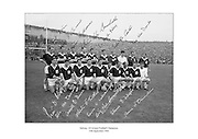 Signed team shot of the Galway Football Team who beat Meath in the 1966 All Ireland Football Final.<br />