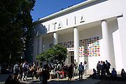 VENICE, ITALY..49th Biennale of Venice.Italian Pavillion..(Photo by Heimo Aga)