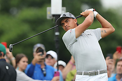 May 30, 2019 - Dublin, OH, U.S. - DUBLIN, OH - MAY 30: Rickie Fowler plays his shot from the tenth tee during the first round of The Memorial Tournament on May 30th 2019  at Muirfield Village Golf Club in Dublin, OH. (Photo by Ian Johnson/Icon Sportswire) (Credit Image: © Ian Johnson/Icon SMI via ZUMA Press)