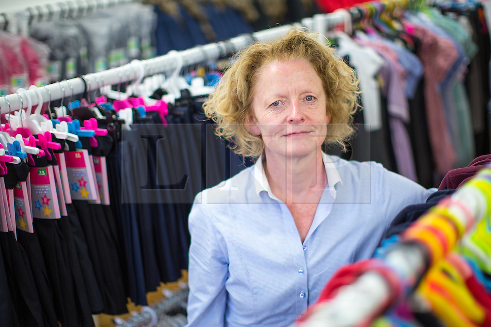 © Licensed to London News Pictures . Manchester , UK . Chief Executive of the Mission , ROSEANNE SWEENEY . The Wood Street Mission is opening its community shop today (Tuesday 16th August 2016) , enabling families on a low income to get school uniform and other school necessities for free , in time for the new school year . Founded by Methodist Minister Alfred Alsop in 1869 , the Mission's aim is to alleviate the effects of poverty on children and families in Manchester and Salford . Photo credit : Joel Goodman/LNP