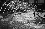 Refreshing fun in the Columbus Circle fountain.