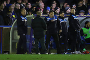 AFC Wimbledon Manager Neal Ardley and AFC Wimbledon Assistant Manager Neil Cox during the Sky Bet League 2 match between AFC Wimbledon and Mansfield Town at the Cherry Red Records Stadium, Kingston, England on 16 January 2016. Photo by Stuart Butcher.