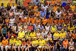 23-08-2017 NED: World Qualifications Belgium - Netherlands, Rotterdam<br /> De Nederlandse volleybalsters hebben op het WK-kwalificatietoernooi ook hun tweede duel in winst omgezet. Oranje overklaste Belgi&euml; en won met 3-0 (25-18, 25-18, 25-22). Eerder werd Griekenland ook al met 3-0 verslagen / Support publiek
