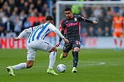 Leeds United midfielder Pablo Hernandez (19)  during the EFL Sky Bet Championship match between Huddersfield Town and Leeds United at the John Smiths Stadium, Huddersfield, England on 7 December 2019.