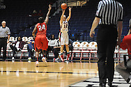 """Ole Miss' Gracie Frizzell (12) vs. Lamar's Alice Robinson (24) in women's college basketball at the C.M. """"Tad"""" Smith Coliseum in Oxford, Miss. on Monday, November 19, 2012.  Lamar won 85-71."""