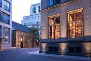 view from the Hotel Qvest, former historical city archive, to the former monastery chapel St. Joseph in the Frisenviertel quarter, Cologne, Germany.<br /> <br /> Blick vom Hotel Qvest, ehemaliges historisches Stadtarchiv, zur ehemaligen Klosterkapelle St. Joseph im Friedenviertel, Koeln, Deutschland.