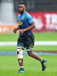 Durban. 170818. Siya Kolisi  of South Africa during the South African national rugby team captains run at Jonsson Kings Park in Durban, South Africa. Pucture Leon Lestrade. African News Agency/ANA