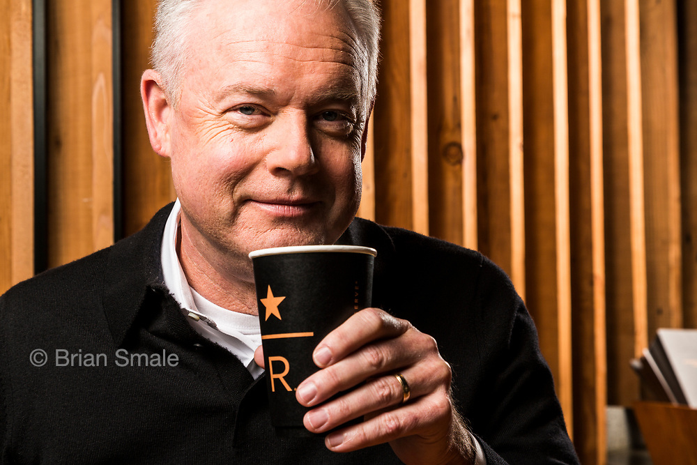 Kevin Johnson, CEO of Starbucks Coffee.  Photographed at Starbucks Reserve, Seattle WA, by Brian Smale for Fortune Magazine