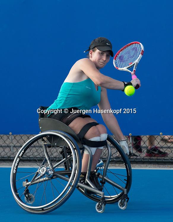 Katharina Krueger (GER), Rollstuhl Tennis, wheelchair <br /> <br /> Tennis - Brisbane International  2015 - ATP -   - Brisbane - QLD - Australia  - 7 January 2015. <br /> &copy; Juergen Hasenkopf