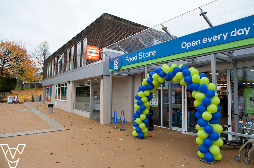 General view of the outside of the newly refurbished Lincolnshire Co-operative Food Store in Washingborough<br /> <br /> Official re-opening of the refurbished Washingborough Food Store and precinct, which includes the Co-op Pharmacy.<br /> <br /> Date: October 30, 2015<br /> Picture: Chris Vaughan/Chris Vaughan Photography