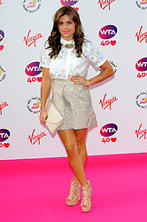 Wimbledon Party<br /> Zoe Hardman attends the annual pre-Wimbledon party at Kensington Roof Gardens,<br /> London, United Kingdom<br /> Thursday, 20th June 2013<br /> Picture by Chris  Joseph / i-Images