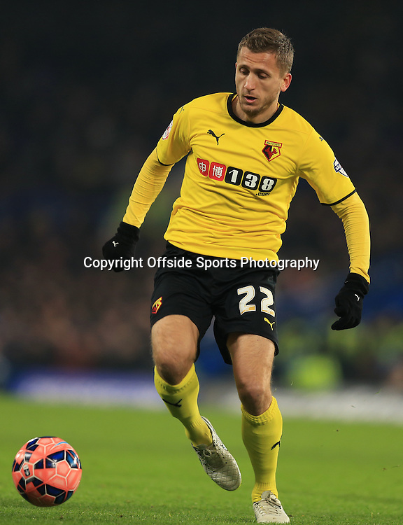 4 January 2015 - The FA Cup 3rd Round - Chelsea v Watford - Almen Abdi of Watford - Photo: Marc Atkins / Offside.