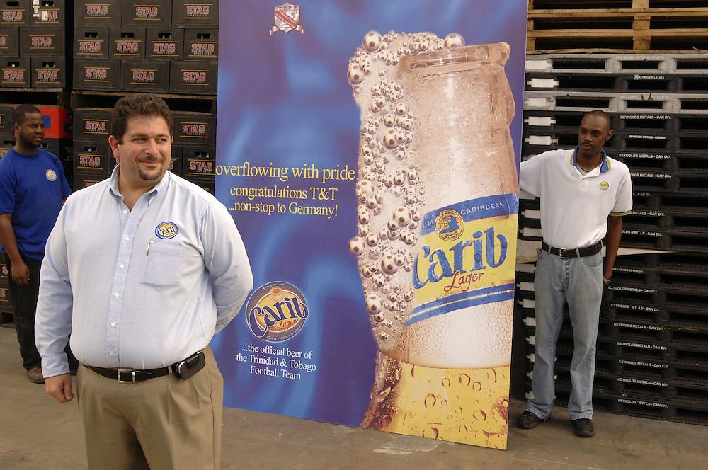 German: Andrew Sabga, CEO von Carib Beer, dem Hauptsponsor der Fussball-Nationalmannschaft von Trinidad & Tobago.