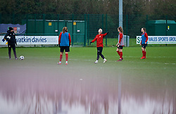CARDIFF, WALES - Sunday, January 20, 2019: Wales' Jessica Fishlock, wearing a protective face mask, during a training session at Dragon Park ahead of the International Friendly game against Italy. (Pic by David Rawcliffe/Propaganda)