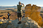 Chimney Rock Spire. Participants from the National Geographic Expeditions workshop hone thier photography skills at New Mexico's Historic Ghost Ranch.