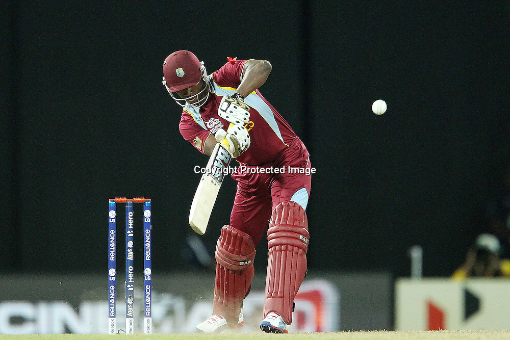 Johnson Charles of The West Indies during the ICC World Twenty20 semi final match between Australia and The West Indies held at the Premadasa Stadium in Colombo, Sri Lanka on the 5th October 2012<br /> <br /> Photo by Ron Gaunt/SPORTZPICS