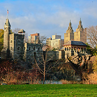 Central Park in the fall New York City Belvedere Castle and San Remo