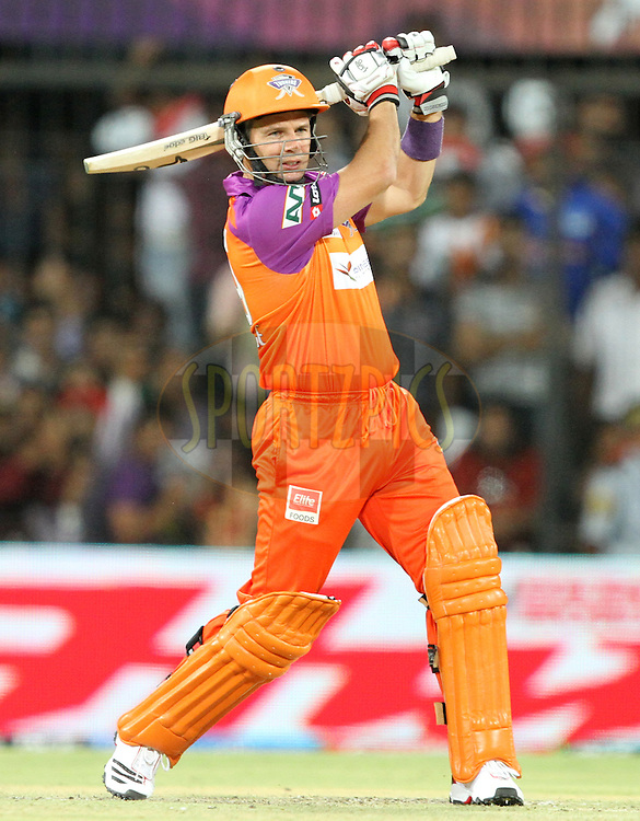 Brad Hodge of KTK in action during match 61 of the Indian Premier League ( IPL ) Season 4 between the Kochi Tuskers Kerala and the Rajasthan Royals held at the Holkar Stadium in Indore, Madhya Pradesh, India on the 15th May  2011..Photo by Prashant Bhoot/BCCI/SPORTZPICS