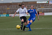 Farmington's Kirsty Deans fires in a shot - Forfar Farmington v Glasgow Girls in the SWPL 2 at Station Park, Forfar, Photo: David Young<br /> <br />  - &copy; David Young - www.davidyoungphoto.co.uk - email: davidyoungphoto@gmail.com