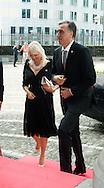 Filip Vujanovic  and is wife: Lunch at the Provincial Palace during the Commemoration of the 100th anniversary of the First World War, in Liège, Belgium, on August 4, 2014.<br /> <br /> Filip Vujanovic  et sa femme: Lunch au Palais Provincial lors des comme´morations organise´es par le<br /> Gouvernement fe´de´ral belge a` l'occasion<br /> du Centième anniversaire de la<br /> Premie`re Guerre mondiale, à Liège, Belgique. 4 Août 2014.