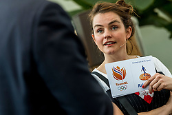 28-03-2018 NED: Kickstart Food van Rabobank, Utrecht<br /> A clever mix of the tastiest seasonal vegetables for the sports public, coming from Dutch local companies. That is the core of the new food program that enables Rabobank and the Nevobo at the Moestuin in Utrecht / Presenter Sofie van den Enk