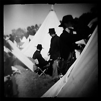 """Union camp at Perryville Battle reenactment, 2002. dnads """"Charge to Battle"""""""