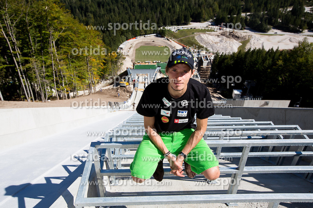 Robert Kranjec at media day of Slovenian Ski jumping team during construction of two new ski jumping hills HS 135 and HS 105, on September 18, 2012 in Planica, Slovenia. (Photo By Vid Ponikvar / Sportida)