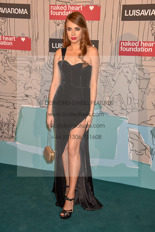 Sarah Lysander at the Fabulous Fund Fair in aid of Natalia Vodianova's Naked Heart Foundation in association with Luisaviaroma held at The Round House, Camden, London England. 18 February 2019.