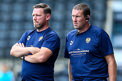 Notts County manager Kevin Nolan with First Team Coach Mark Crossley - Mandatory by-line: Robbie Stephenson/JMP - 14/07/2018 - FOOTBALL - Meadow Lane - Nottingham, England - Notts County v Derby County - Pre-season friendly