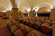 Italy, Collio. Capriva del Friuli. Fondazione Villa Russiz winery. The old cellar.