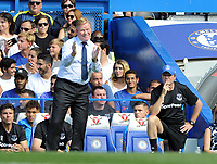 Football - 2017 / 2018 Premier League - Chelsea vs. Everton<br /> <br /> Everton Manager, Ronald Koeman with his brother and Coach, Edwin (right) at Stamford Bridge.<br /> <br /> COLORSPORT/ANDREW COWIE