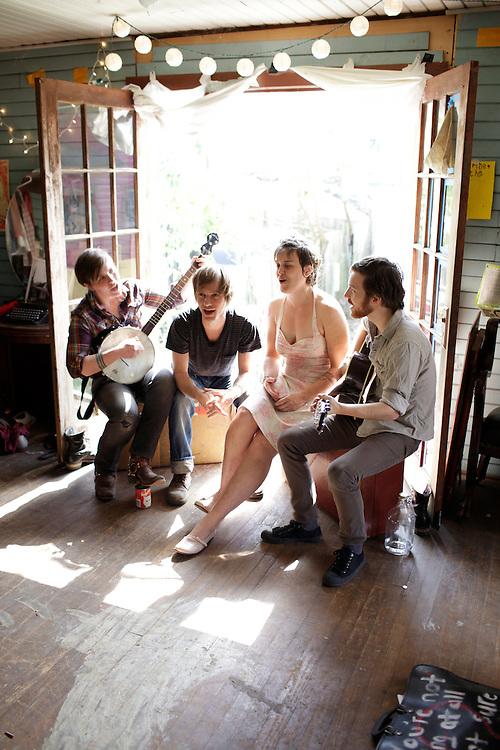 Midtown Dickens; Catherine Edgerton, Kym Register, Johnathan Henderson, Will Hackney.