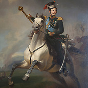 Alexander II was the Emperor of Russia from 2 March 1855 until his assassination in 1881. Painting by Egor Botman. The Hermitage Museum also known as the Winter Palace,  was the main residence of the Russian Tsars located on the banks of the Neva River, in St. Petersburg.   Photography by Jose More