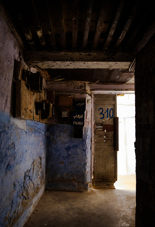 FEZ, MOROCCO - CIRCA APRIL 2017:  Alleyway at the Medina in Fez
