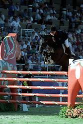 Durand Pierre, Jappeloup<br /> World Equestrian Games Stockholm 1990<br /> Photo © Dirk Caremans