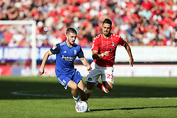 Dan Crowley of Birmingham City runs with ball under pressure from Beram Kayal of Charlton Athletic - Mandatory by-line: Arron Gent/JMP - 14/09/2019 - FOOTBALL - The Valley - Charlton, London, England - Charlton Athletic v Birmingham City - Sky Bet Championship
