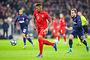 Bayern Munich defender Jérôme Boateng (17) on the ball during the Champions League match between Bayern Munich and Tottenham Hotspur at Allianz Arena, Munich, Germany on 11 December 2019.
