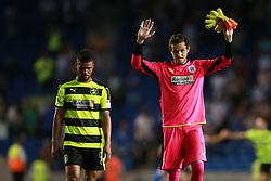 Danny Ward of Huddersfield Town signals to the fans - Mandatory by-line: Jason Brown/JMP - 13/09/2016 - FOOTBALL - Amex Stadium - Brighton, England - Brighton & Hove Albion v Huddersfield Town - Sky Bet Championship