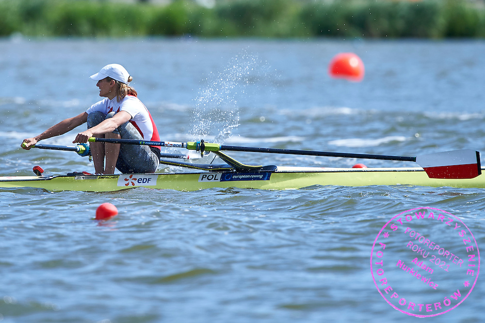 Julia Michalska of Poland competes Women&rsquo;s Single Sculls (W1x) Final B during third day the 2015 European Rowing Championships on Malta Lake on May 31, 2015 in Poznan, Poland<br /> Poland, Poznan, May 31, 2015<br /> <br /> Picture also available in RAW (NEF) or TIFF format on special request.<br /> <br /> For editorial use only. Any commercial or promotional use requires permission.<br /> <br /> Mandatory credit:<br /> Photo by &copy; Adam Nurkiewicz / Mediasport