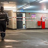 Kristiansand  20170206.<br /> En kvinne er kj&oslash;rt til sykehus med ukjent skadeomfang etter en alvorlig voldsepisode i et parkeringshus p&aring; Odder&oslash;ya i Kristiansand.<br /> Foto: Tor Erik Schr&oslash;der / NTB scanpix