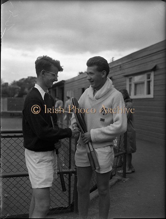 Tennis, International Junior Lawn Tennis Championships at Fitzwilliam Square, Dublin.<br /> 22.08.1961